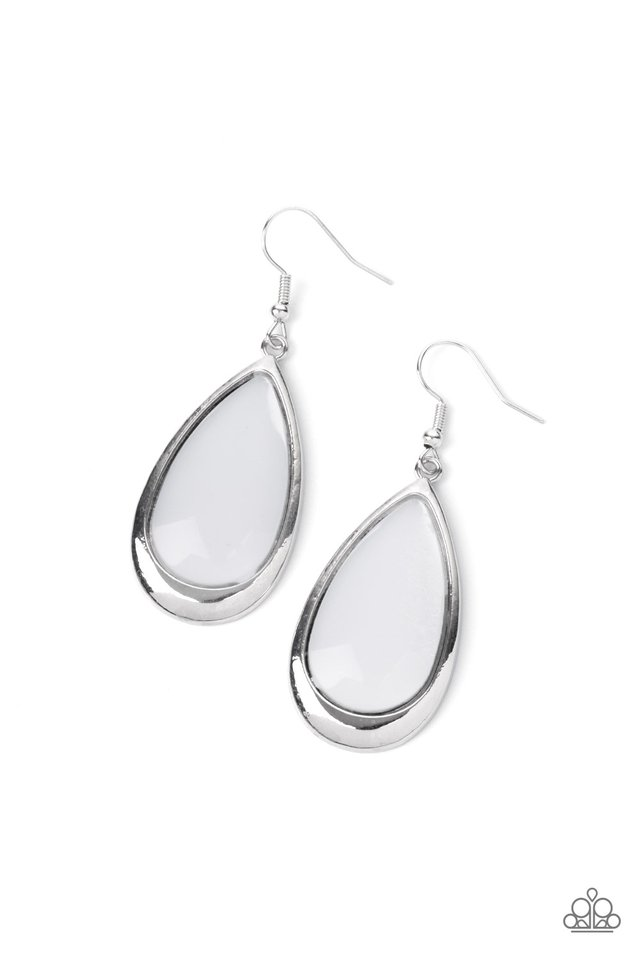 A World To SEER - White - Paparazzi Earring Image