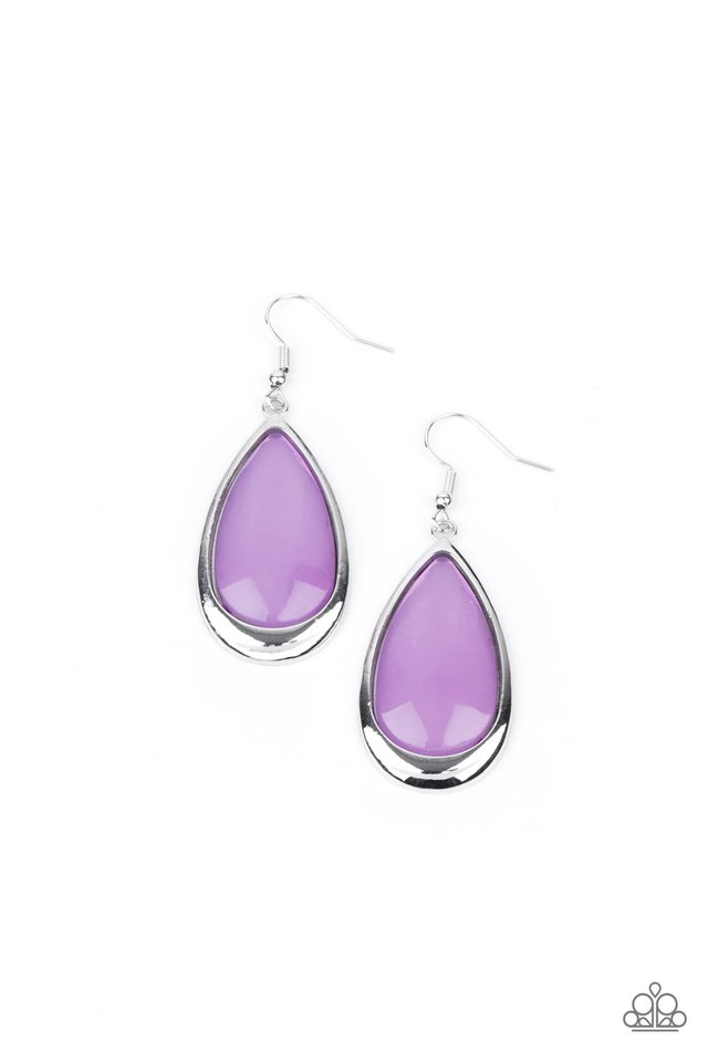 A World To SEER - Purple - Paparazzi Earring Image