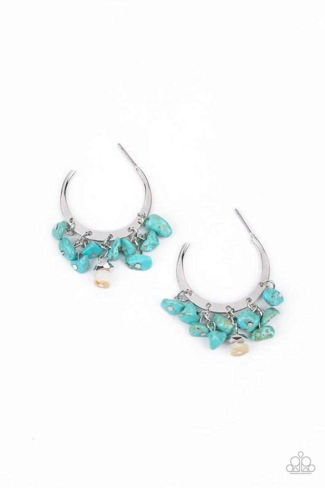 Gorgeously Grounding - Blue - Paparazzi Earring Image