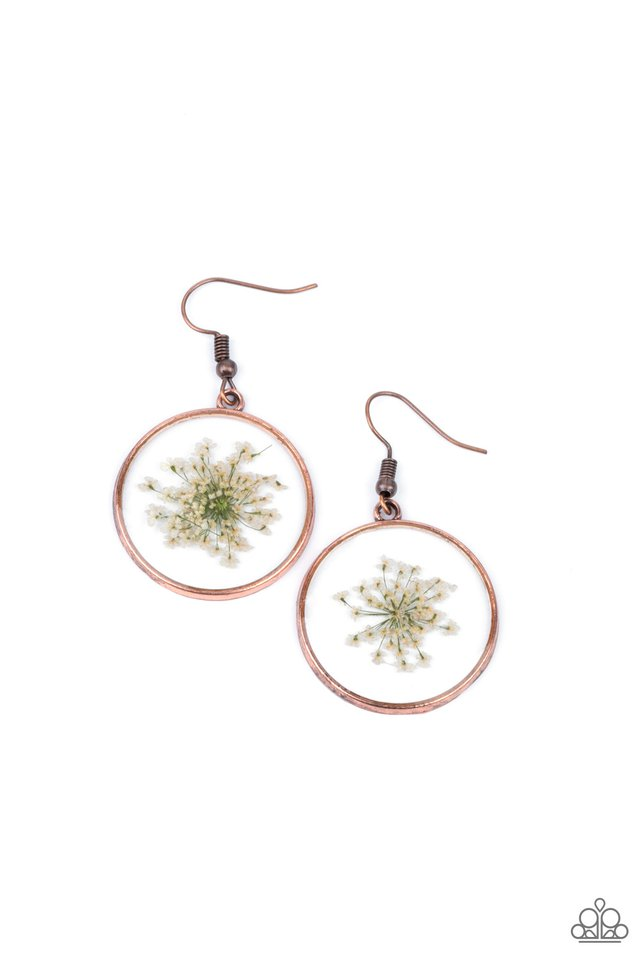 Happily Ever Eden - Copper - Paparazzi Earring Image