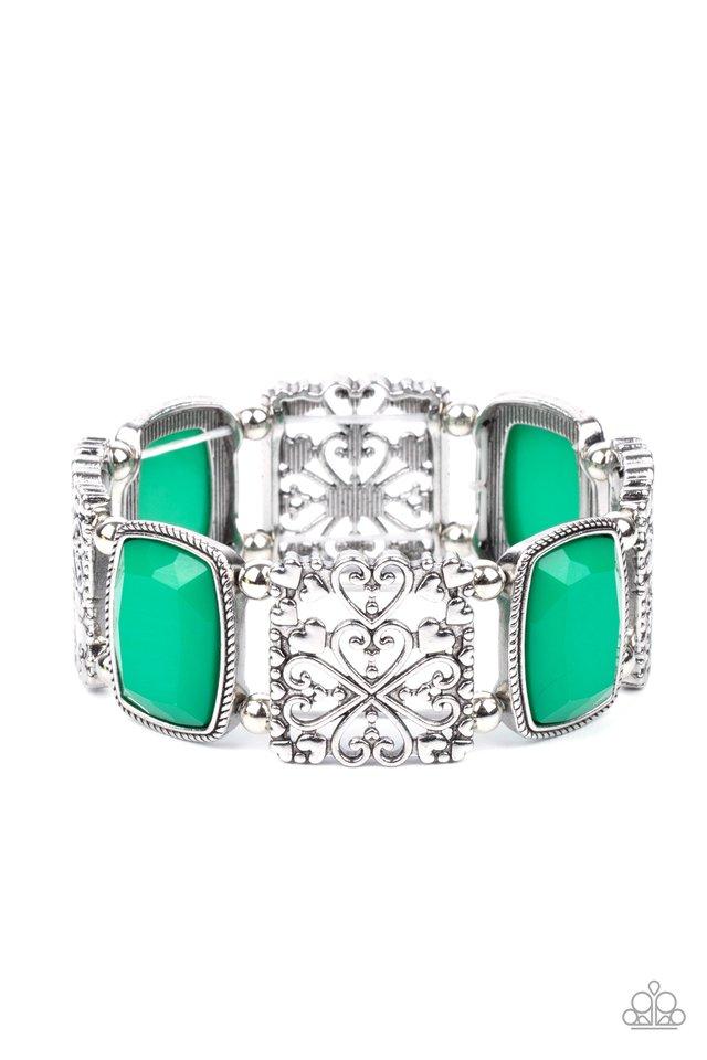Colorful Coronation - Green - Paparazzi Bracelet Image