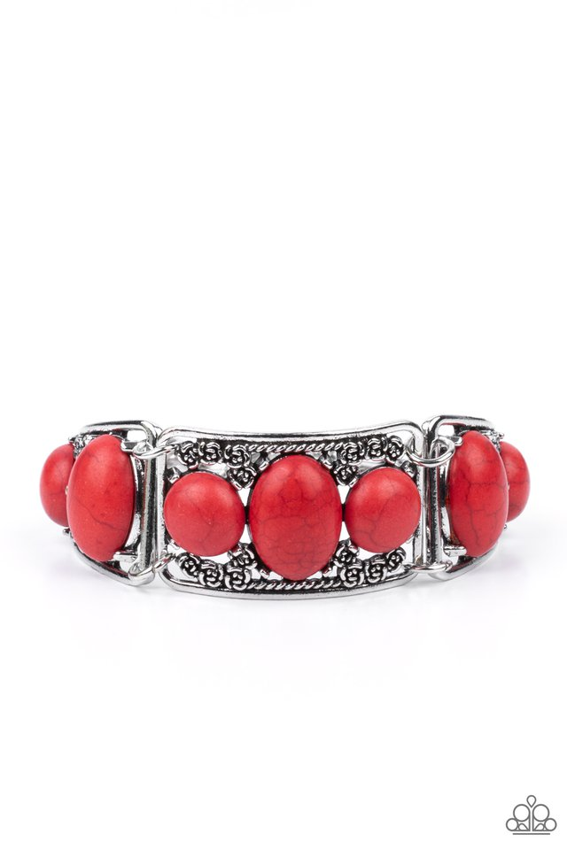 Southern Splendor - Red - Paparazzi Bracelet Image