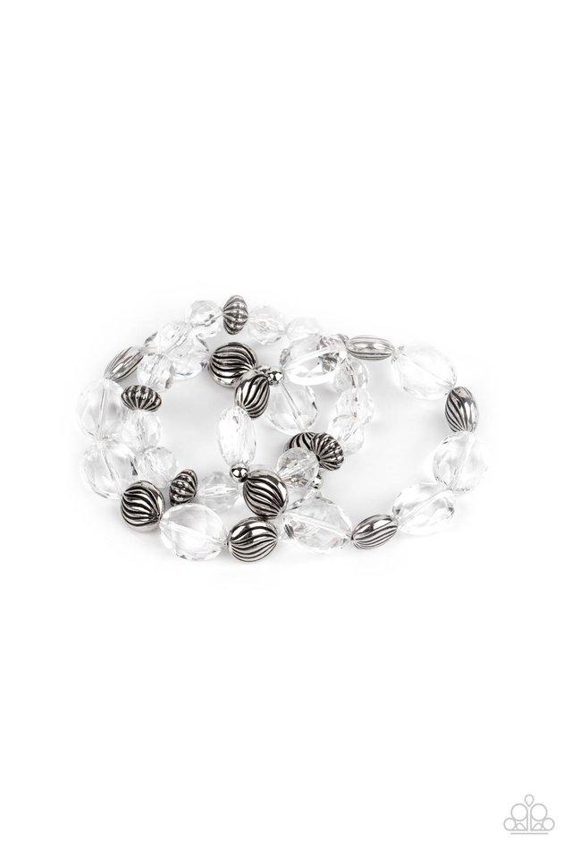 Crystal Charisma - White - Paparazzi Bracelet Image