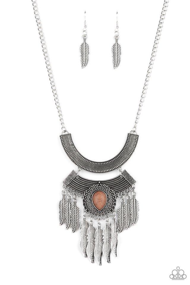 Desert Devotion - Brown - Paparazzi Necklace Image