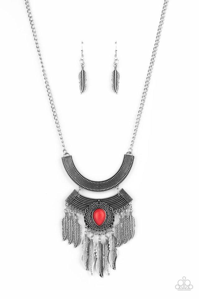 Desert Devotion - Red - Paparazzi Necklace Image
