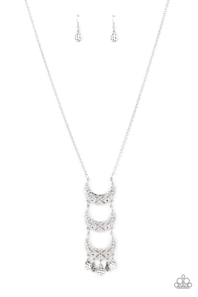 Half-Moon Child - Silver - Paparazzi Necklace Image