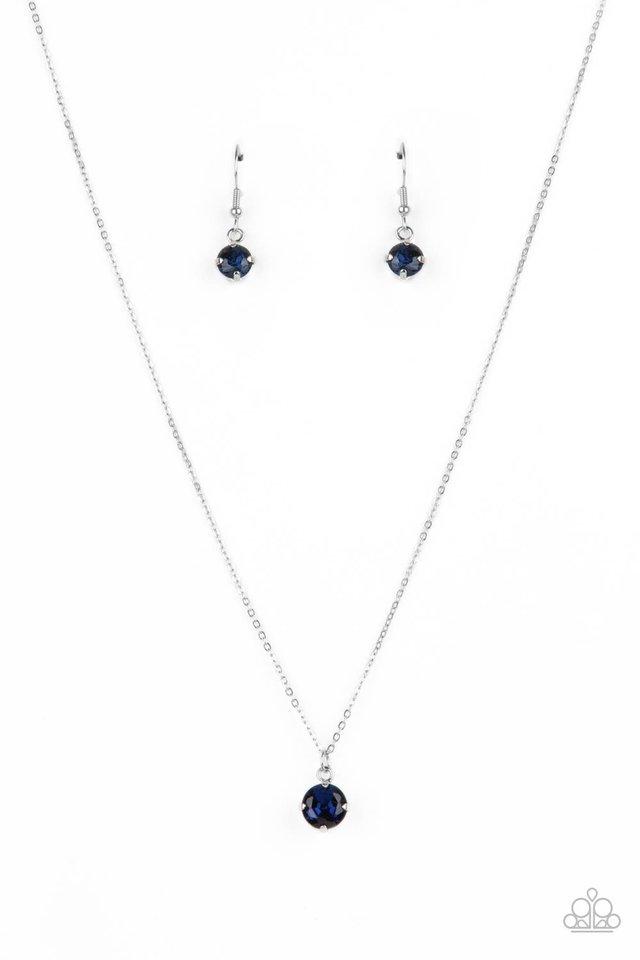 Undeniably Demure - Blue - Paparazzi Necklace Image