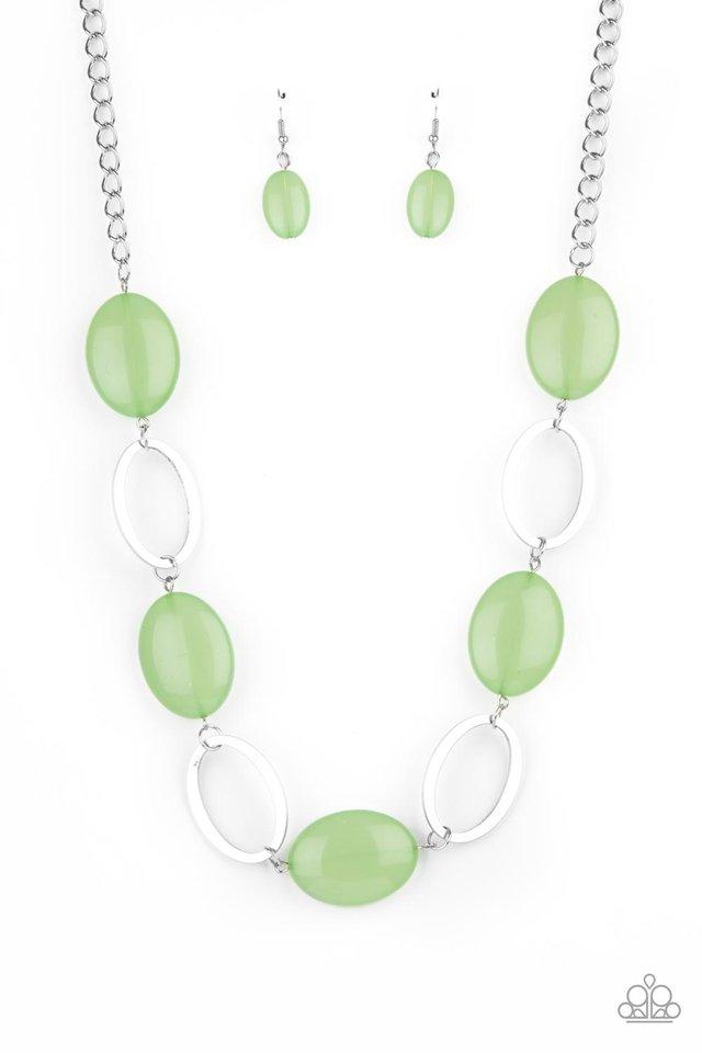 Beachside Boardwalk - Green - Paparazzi Necklace Image