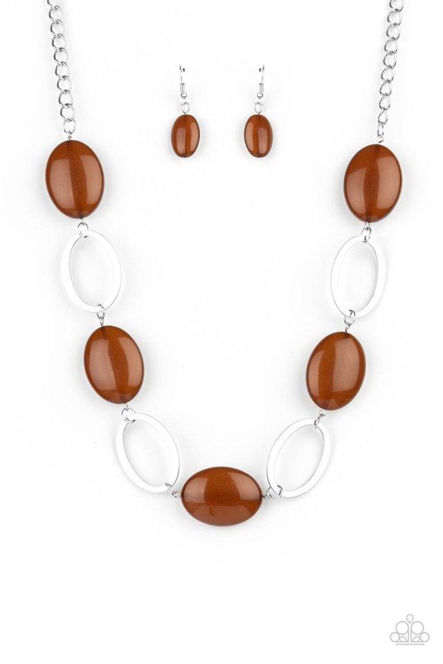 Beachside Boardwalk - Brown - Paparazzi Necklace Image