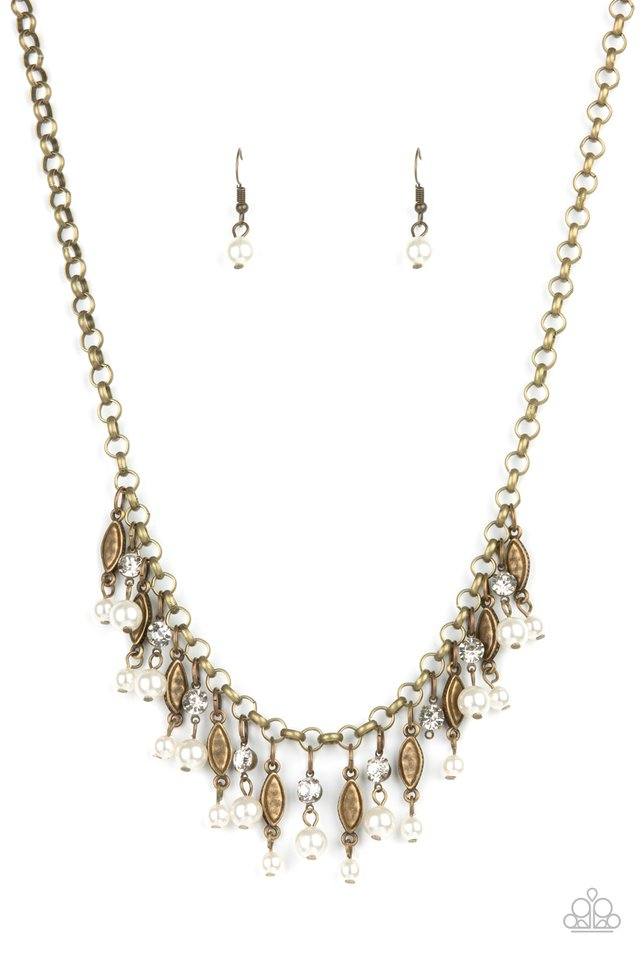 Cosmopolitan Couture - Brass - Paparazzi Necklace Image
