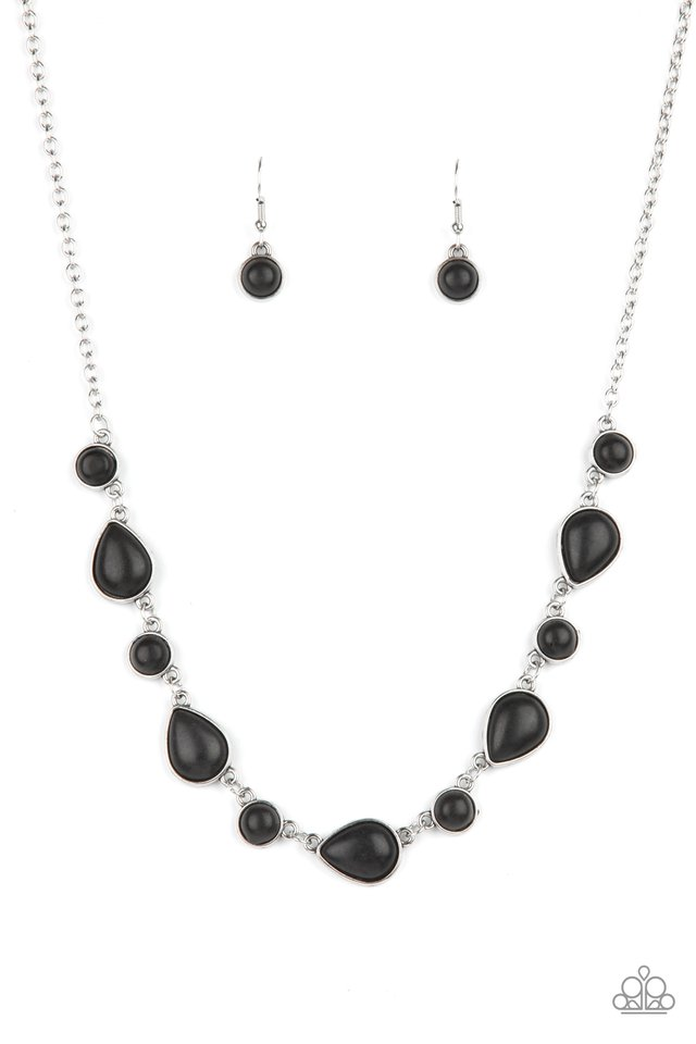 Heavenly Teardrops - Black - Paparazzi Necklace Image