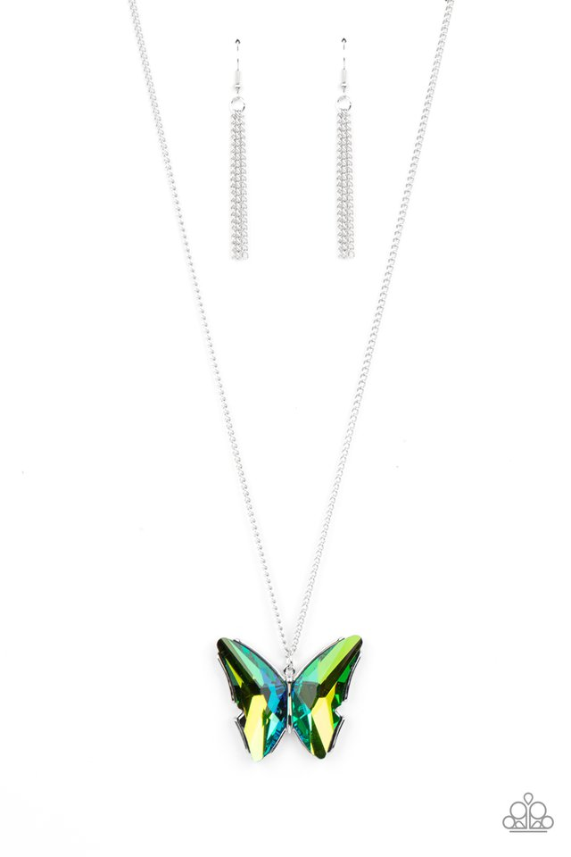 The Social Butterfly Effect - Green - Paparazzi Necklace Image
