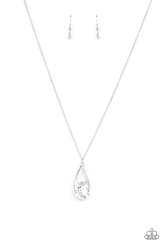 Gala Gleam - White - Paparazzi Necklace Image