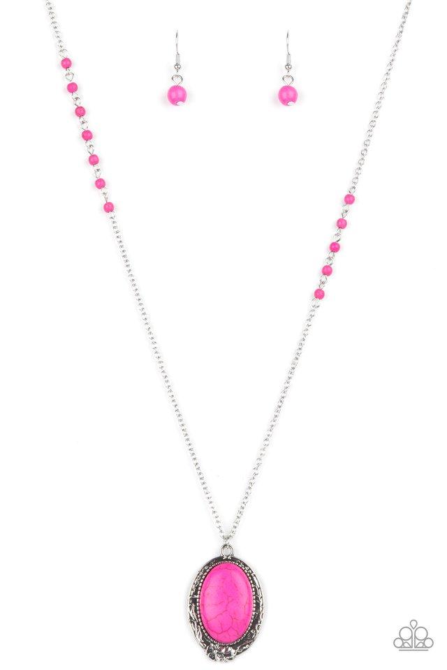 Plateau Paradise - Pink - Paparazzi Necklace Image