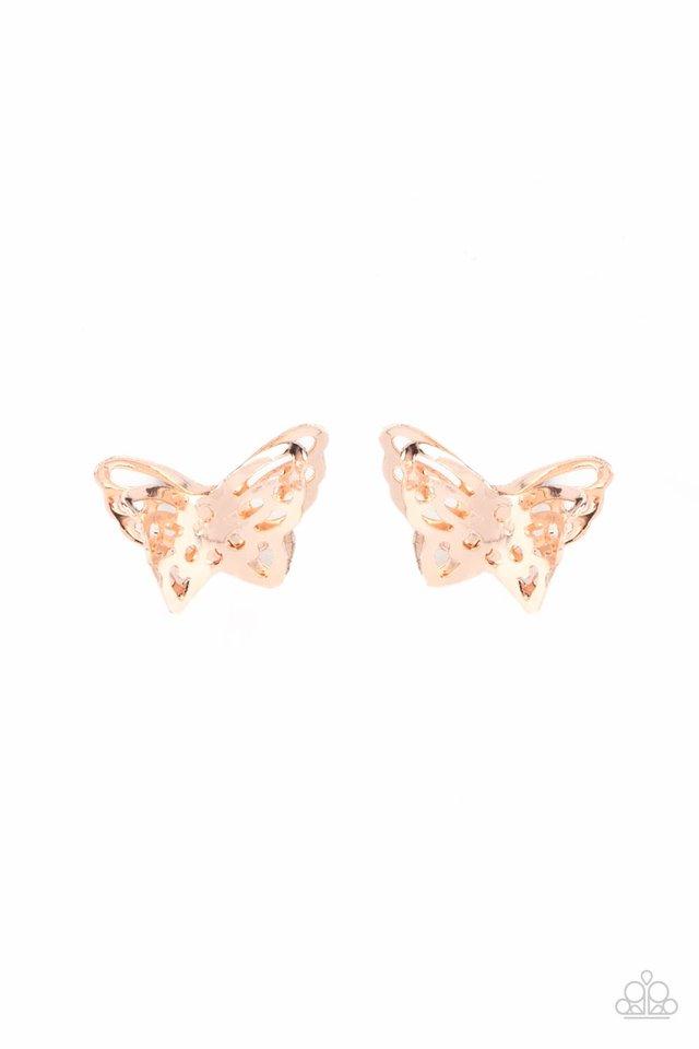 Flutter Fantasy - Rose Gold - Paparazzi Earring Image