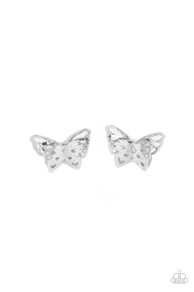 Flutter Fantasy - Silver - Paparazzi Earring Image