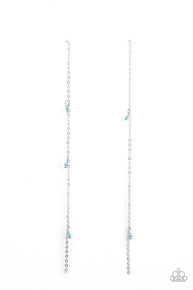 Dauntlessly Dainty - Blue - Paparazzi Earring Image