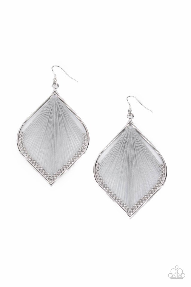 String Theory - Silver - Paparazzi Earring Image