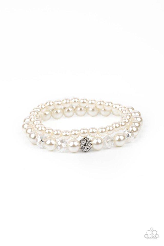 Cotton Candy Dreams - White - Paparazzi Bracelet Image