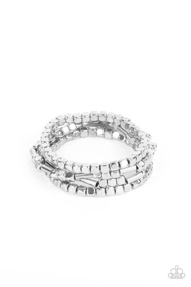 Metro Materials - Silver - Paparazzi Bracelet Image