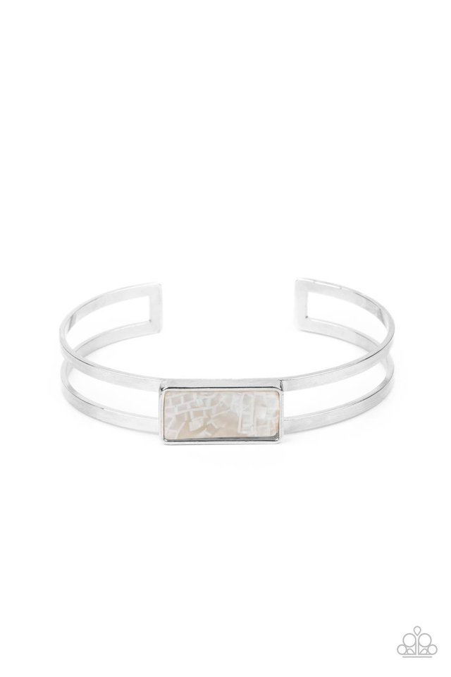 Remarkably Cute and Resolute - White - Paparazzi Bracelet Image