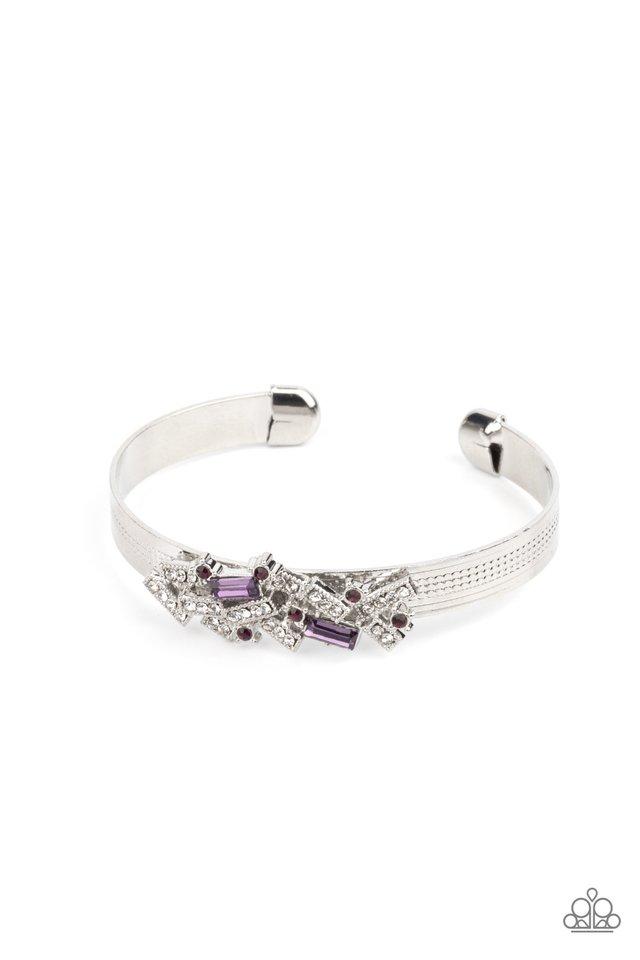 A Chic Clique - Purple - Paparazzi Bracelet Image