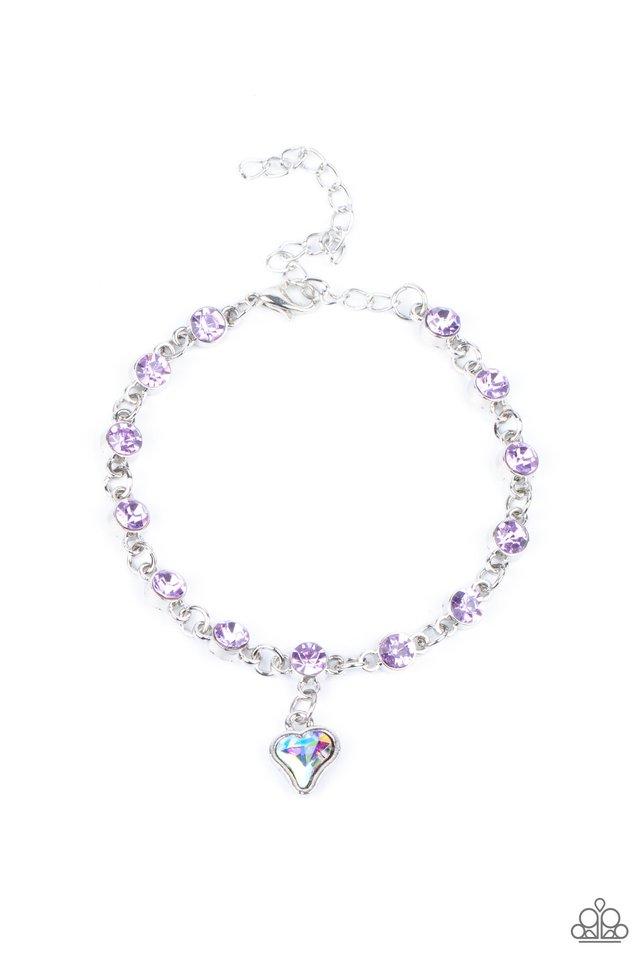 Sweet Sixteen - Purple - Paparazzi Bracelet Image