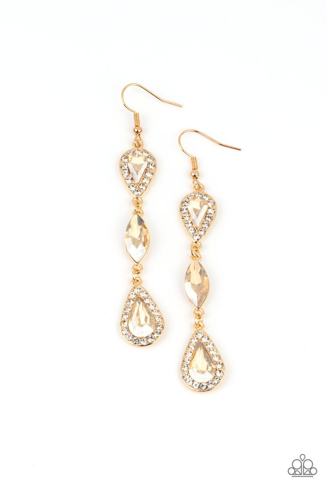 Test of TIMELESS - Gold - Paparazzi Earring Image