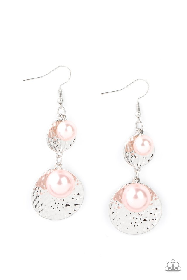 Pearl Dive - Pink - Paparazzi Earring Image