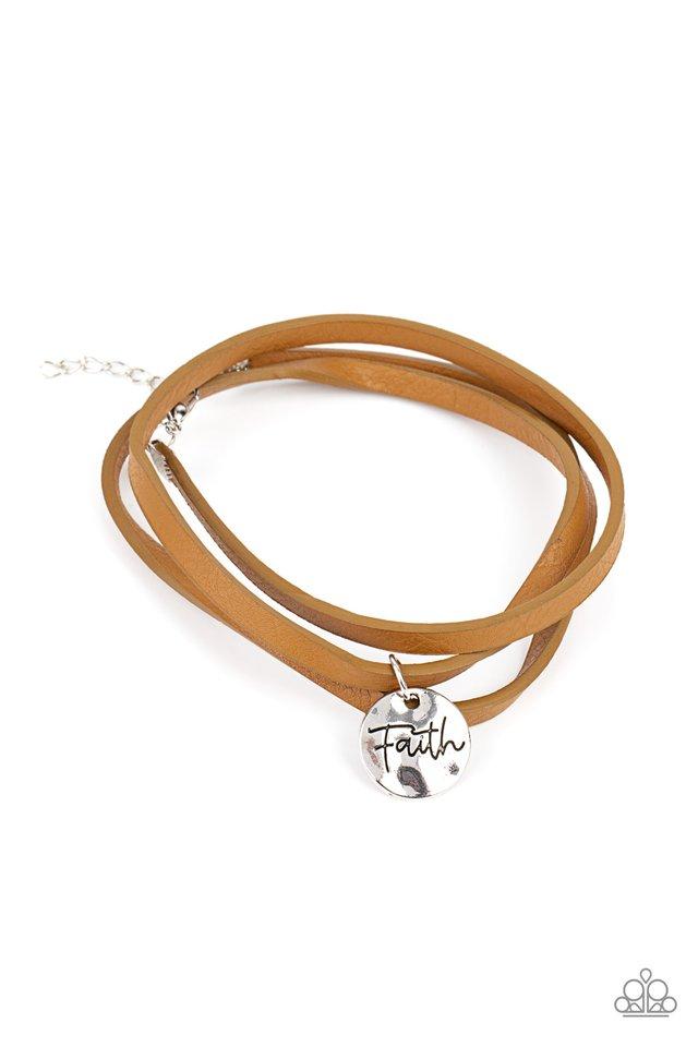 Wonderfully Worded - Brown - Paparazzi Bracelet Image