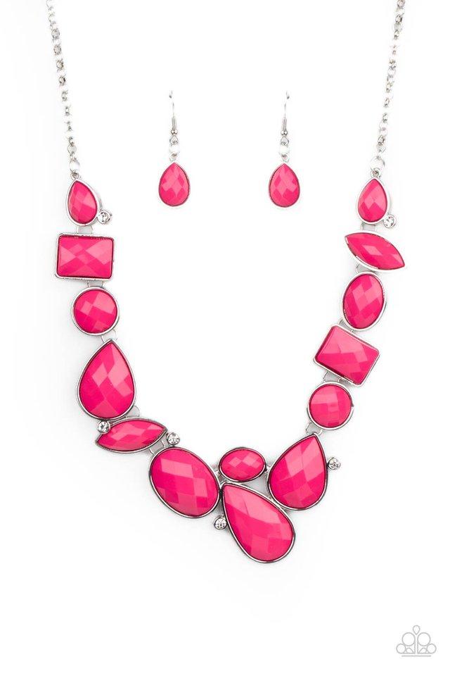 Mystical Mirage - Pink - Paparazzi Necklace Image