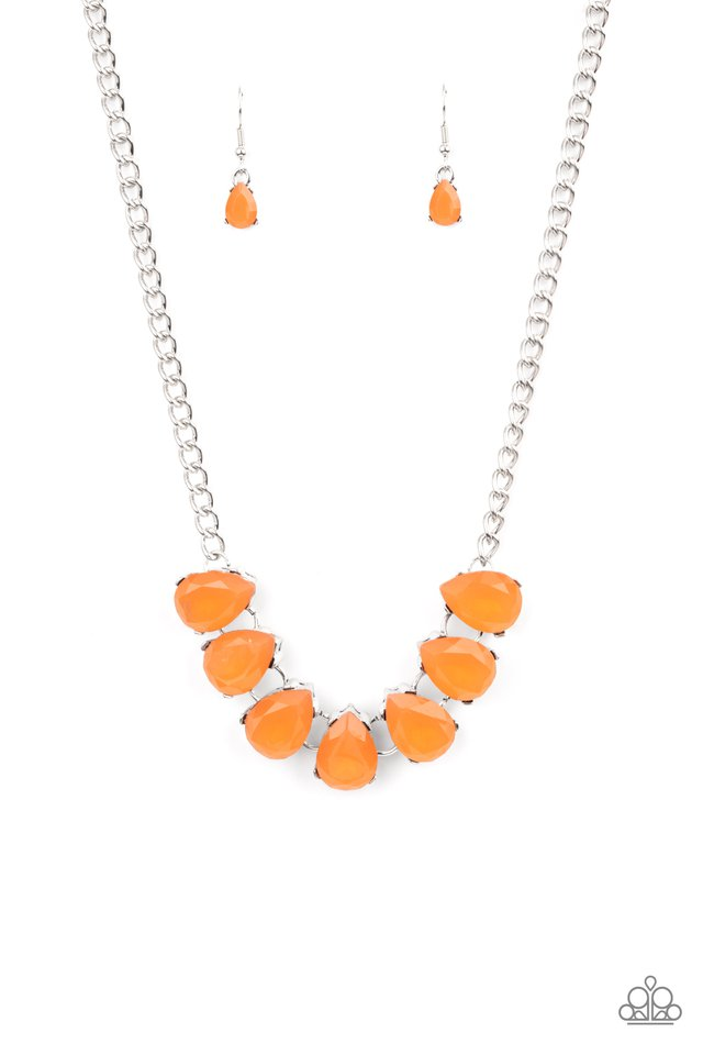 Above The Clouds - Orange - Paparazzi Necklace Image