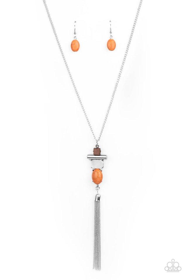 Natural Novice - Orange - Paparazzi Necklace Image