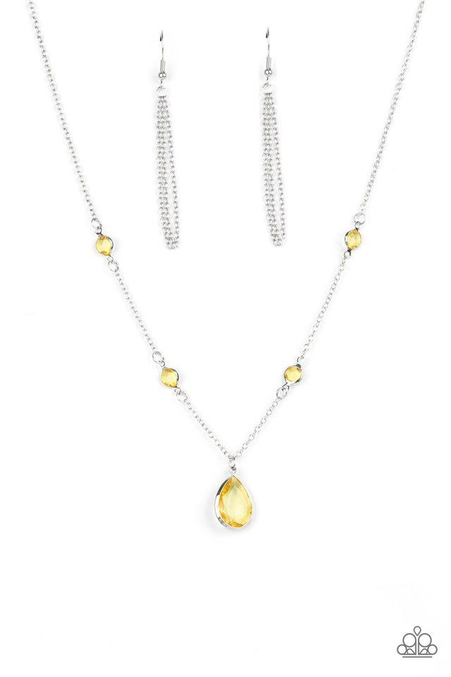 Romantic Rendezvous - Yellow - Paparazzi Necklace Image