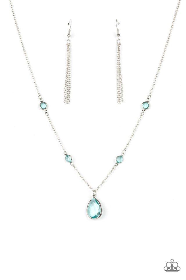 Romantic Rendezvous - Blue - Paparazzi Necklace Image