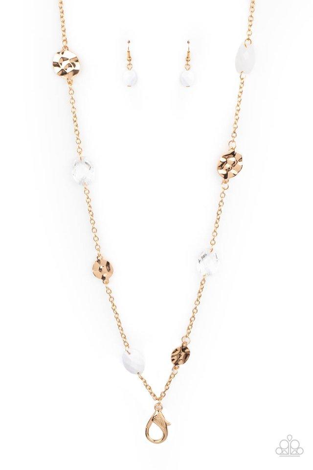 Glossy Glamorous - White - Paparazzi Necklace Image