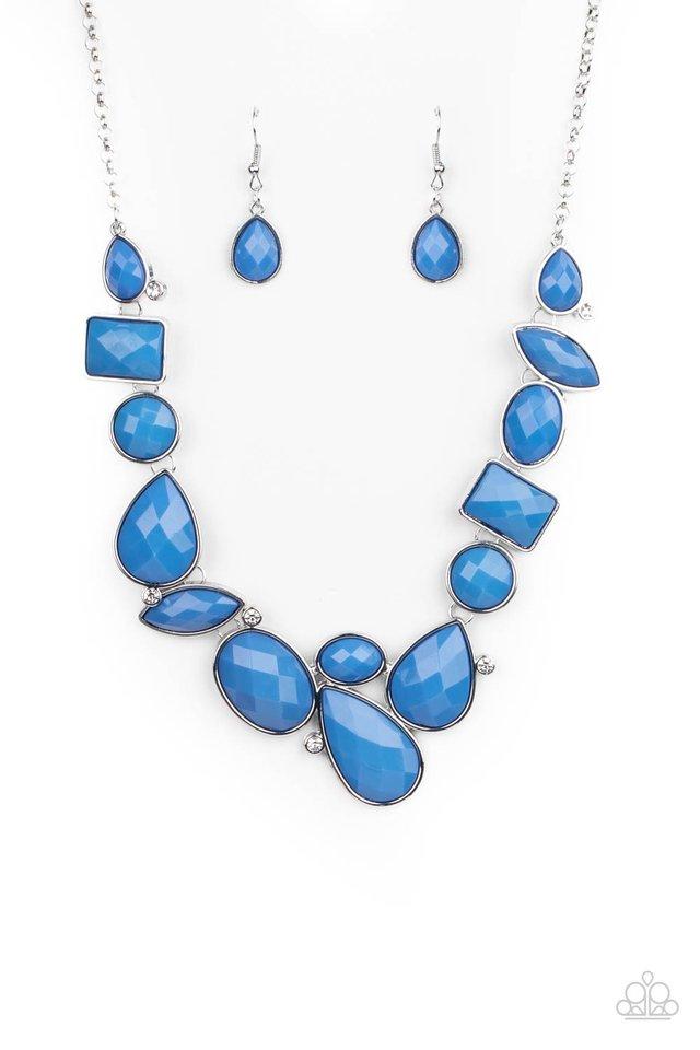 Mystical Mirage - Blue - Paparazzi Necklace Image