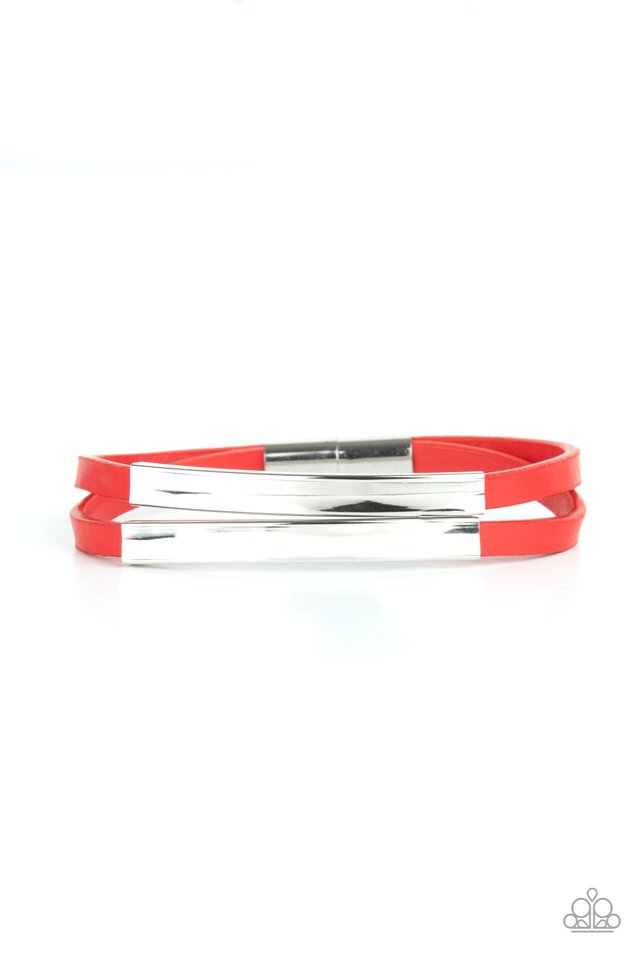 Dangerously Divine - Red - Paparazzi Bracelet Image