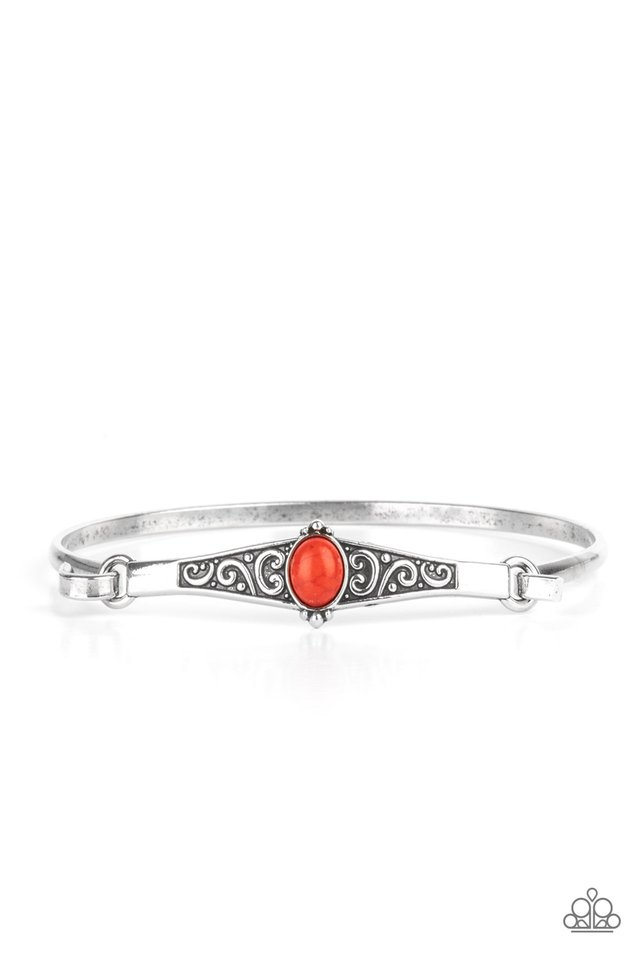 Stone Scrolls - Red - Paparazzi Bracelet Image