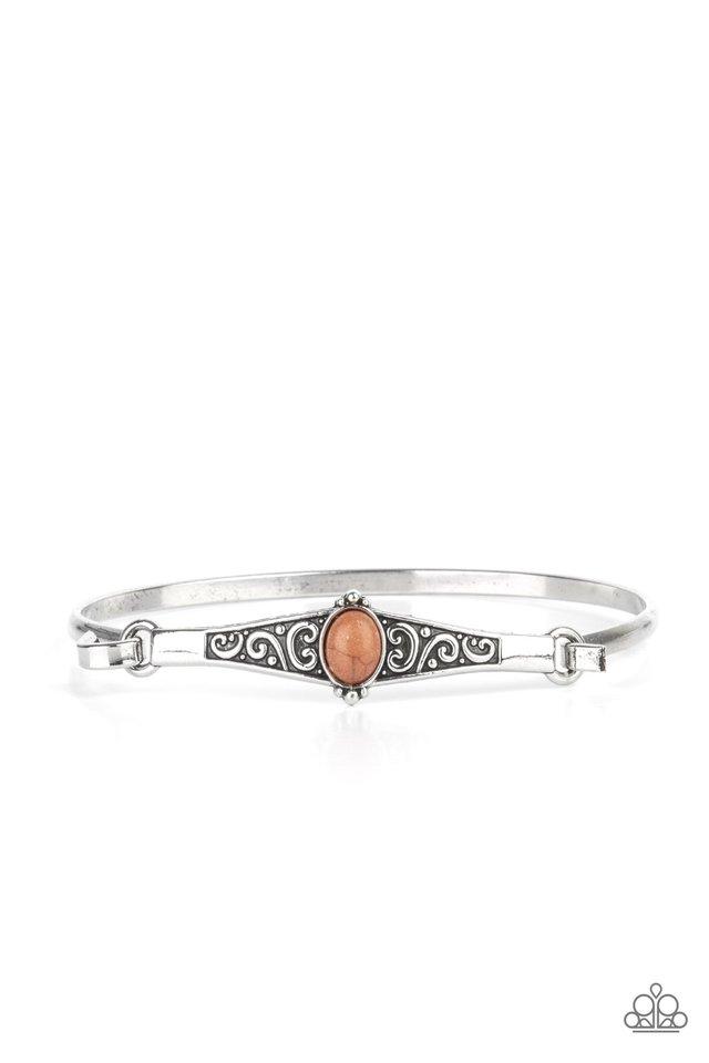 Stone Scrolls - Brown - Paparazzi Bracelet Image