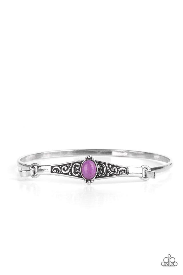 Stone Scrolls - Purple - Paparazzi Bracelet Image
