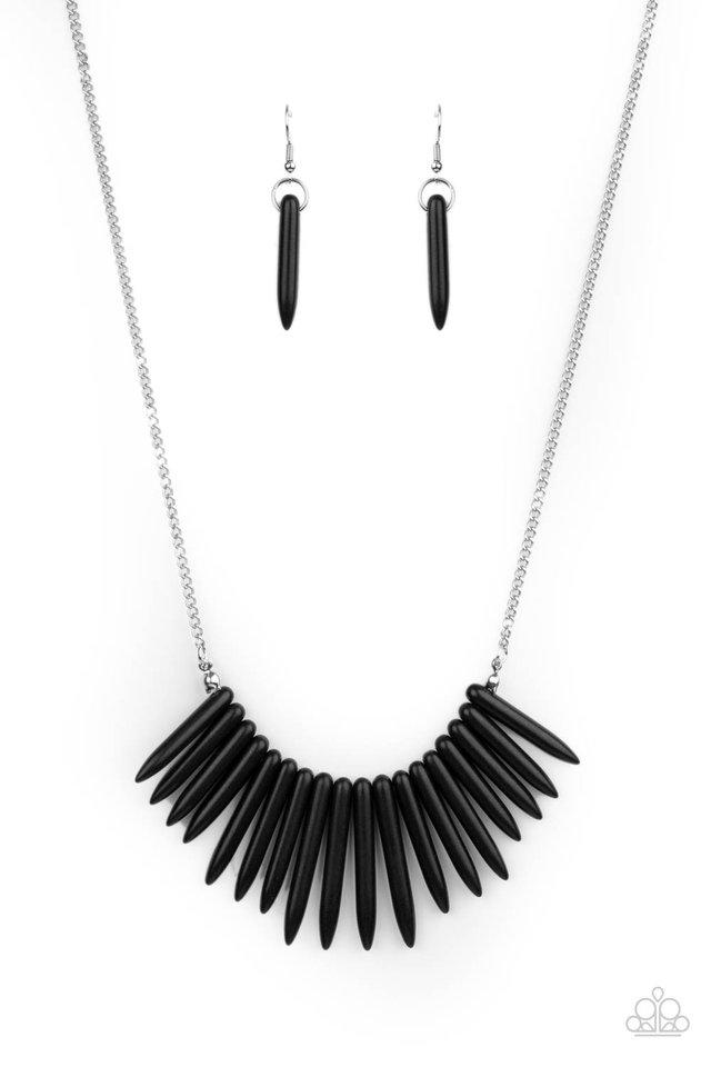 Exotic Edge - Black - Paparazzi Necklace Image