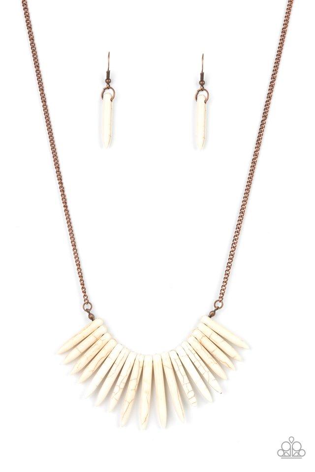 Exotic Edge - Copper - Paparazzi Necklace Image