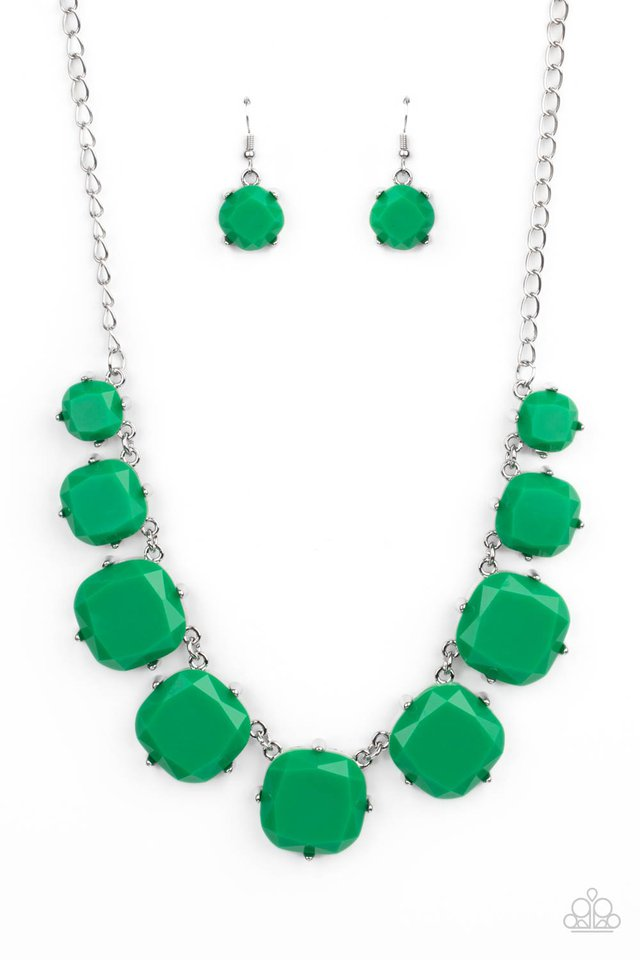 Prismatic Prima Donna - Green - Paparazzi Necklace Image
