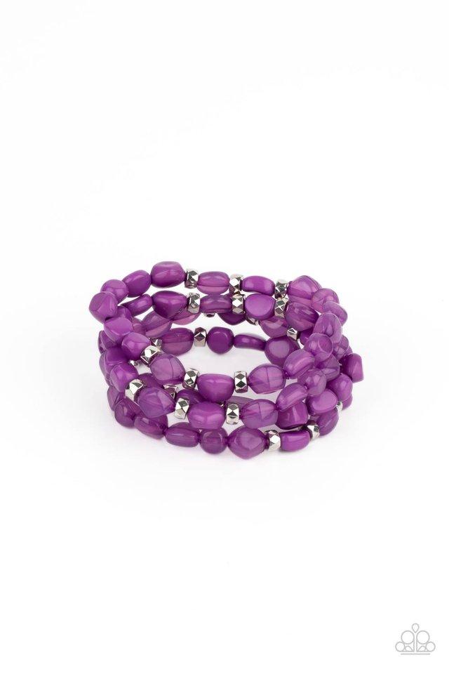 Nice GLOWING! - Purple - Paparazzi Bracelet Image