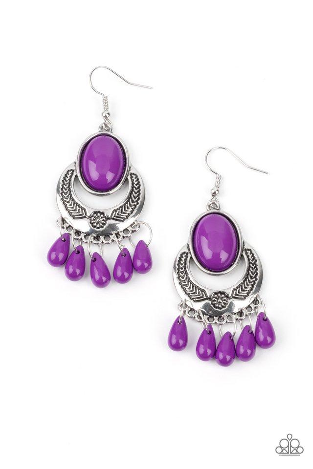 Prairie Flirt - Purple - Paparazzi Earring Image