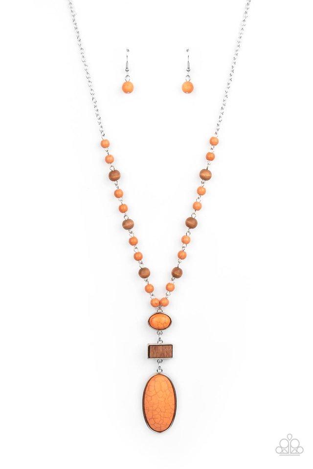 Naturally Essential - Orange - Paparazzi Necklace Image