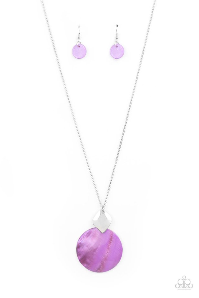 Tidal Tease - Purple - Paparazzi Necklace Image
