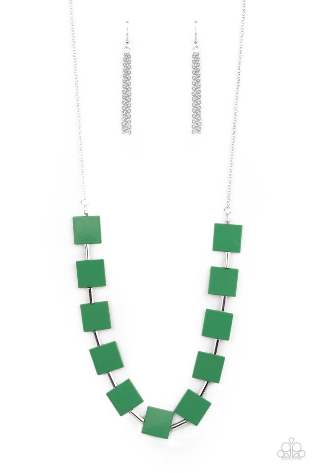 Hello, Material Girl - Green - Paparazzi Necklace Image