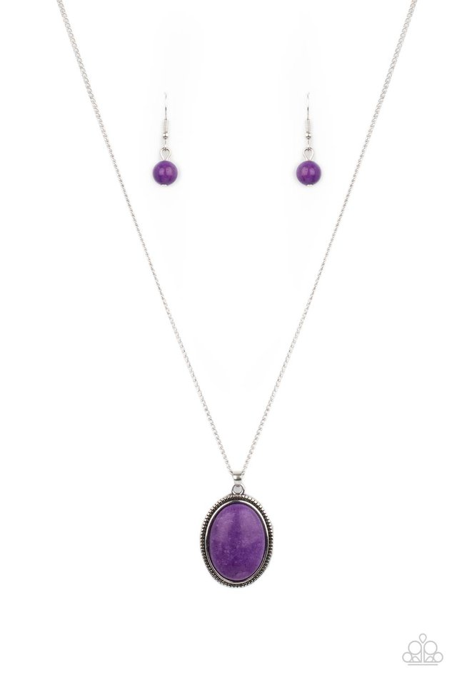 Tranquil Talisman - Purple - Paparazzi Necklace Image